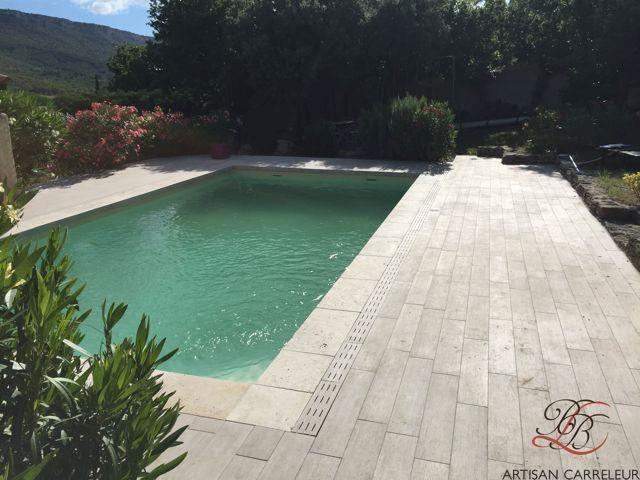 Pose de carrelage extérieur #carrelage #sol http://www.habitatpresto.com/chantier/1046-chantier-renovation-terrasse-juillet-2015