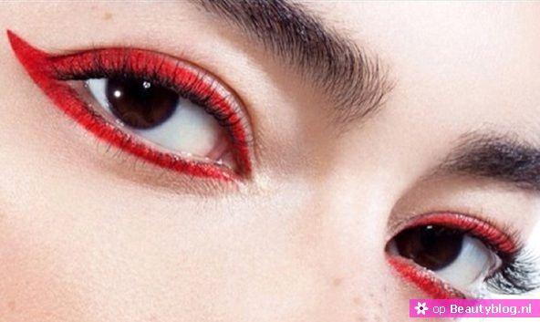 Inspiratie voor rode eyeliner