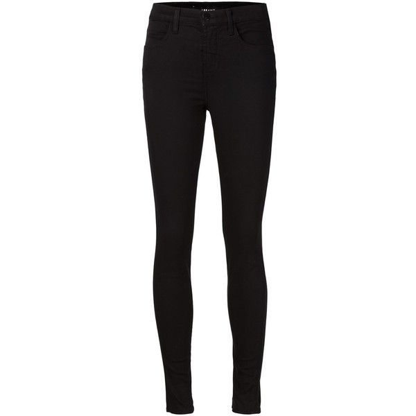 J Brand skinny jeans ($275) ❤ liked on Polyvore featuring jeans, pants, bottoms, pantalones, skinny jeans, black, j brand, black jeans, denim skinny jeans and j-brand skinny jeans