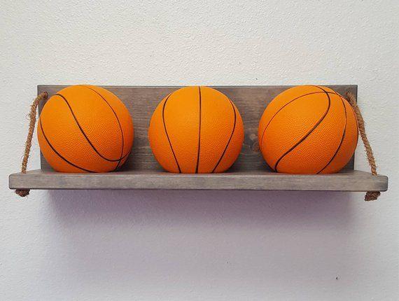 Mini Basketball Holder Wall Mounted Basketball Holder Etsy Basketball Holder Mini Basketball Hoop Mini Basketballs