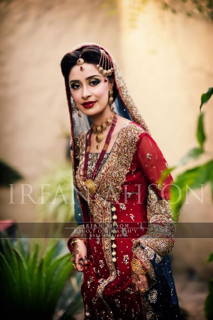 Pakistani Bride in Traditional Red | Irfan Ahson Photography