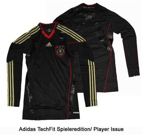Deutschland DFB Trikot Away Techfit Powerweb Longsleeve Spieleredition 10/11 Adidas Gr.L
