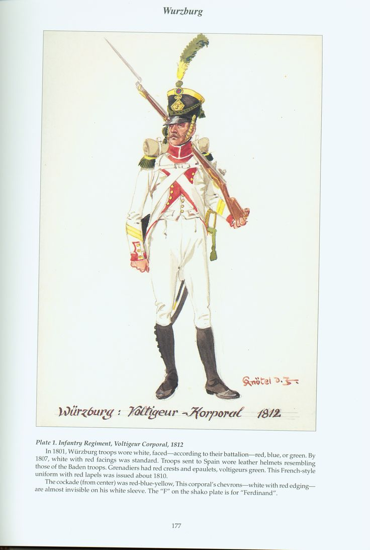 The Confederation of the Rhine - Wurzburg: Plate 1. Infantry Regiment, Voltigeur Corporal, 1812