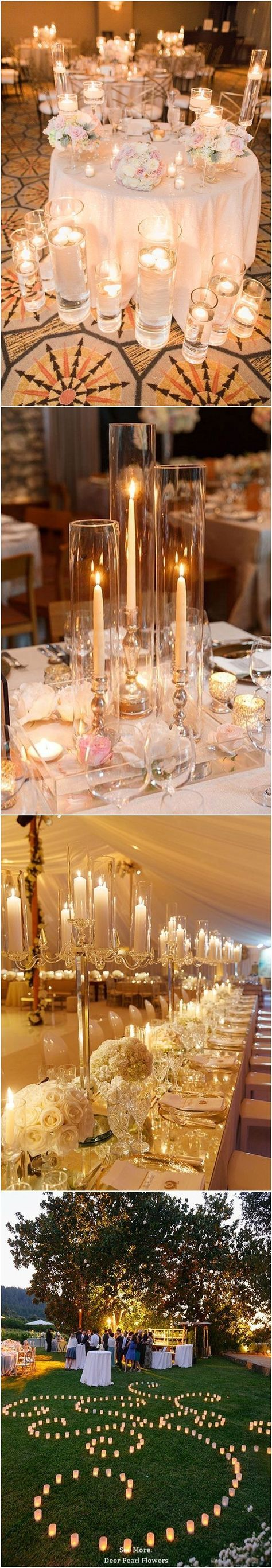 57 best 2018 wedding trends images on pinterest 2018 wedding 40 chic romantic wedding ideas using candles junglespirit Image collections