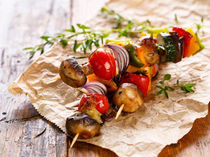 Gemüse-Grillspieß
