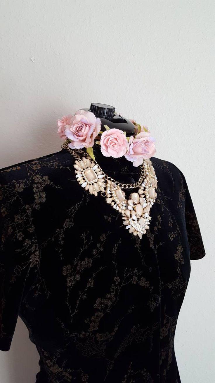 Excited to share the latest addition to my #etsy shop: BLACK VELVET DRESS Long Tunic, Duster, Mandarin Collar, Vintage Elegant Luxurious J. Stevens, Dressy, Wedding, Special Occasion http://etsy.me/2GOqjmK