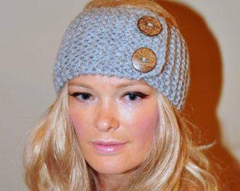 Headband Head wrap Ear warmer Warm Hair Band Button CHOOSE COLOR Birch Brown Gift under 25 Beige Marble Wheat Acorn Eco Neutral Nature   – eu