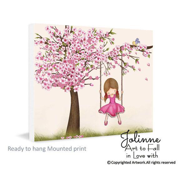 Impresión del arte de la pared de la flor de cerezo by jolinne | Etsy