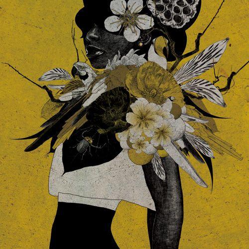 Colorful Mixed Media Illustration by Japan-based graphic artist Marumiyan