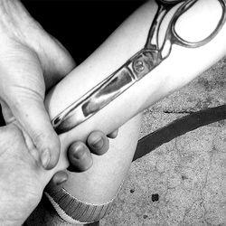 Sewing Scissors Tattoo