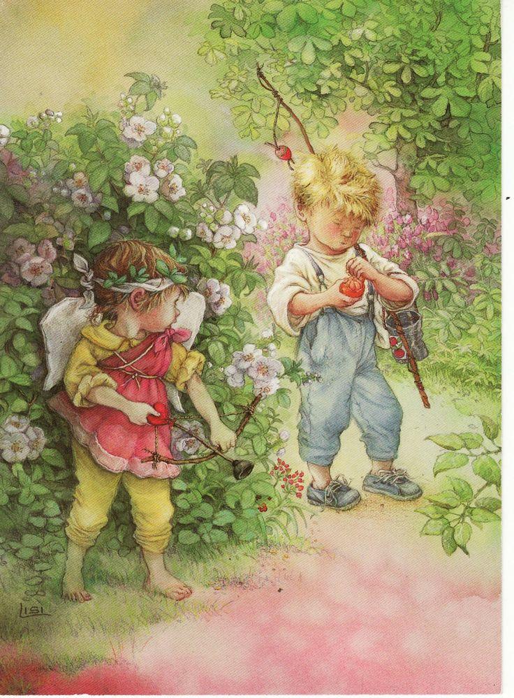 Con arco y flecha - Lisi Martin - www.hannes-servietter.net