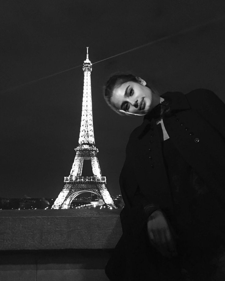 """Taylor Hill typically avoids the tourist spots of Paris and aspires to be """"part of the city, part of the culture."""" But at the end of a long night, and an even longer month, it is hard not to fall for the charms of the Eiffel Tower, that sparkling bauble by night. And it is a great spot to regroup (after a L'Oréal Paris party!) and measure the distance she has traveled since being discovered by a Los Angeles–based photographer at age 14, while shooting a Belk catalog in Granby, Colorado. The…"""