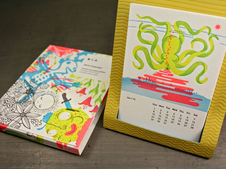 I'm pretty crazy about these desk top letterpress calendars @studioonfire.com