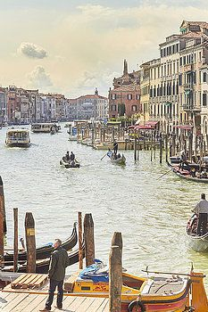 Grand Canal - the most famous canal in Venice by George Westermak#George Westermak#travel#FineArtPrints#landscape#Venice