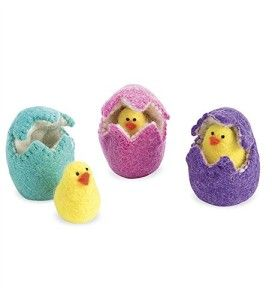 Felt Eggs with Chicks, set of 3 Set includes Pink, Purple, and Teal eggs. Each comes in their own colorful wool felt eggs.  http://awsomegadgetsandtoysforgirlsandboys.com/easter-gifts-for-baby/ Easter Gifts For Baby: Felt Eggs with Chicks, set of 3