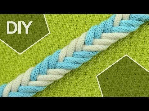▶ DIY: Easy 6-Strand Flat Arrow Braid in 2 colors - YouTube