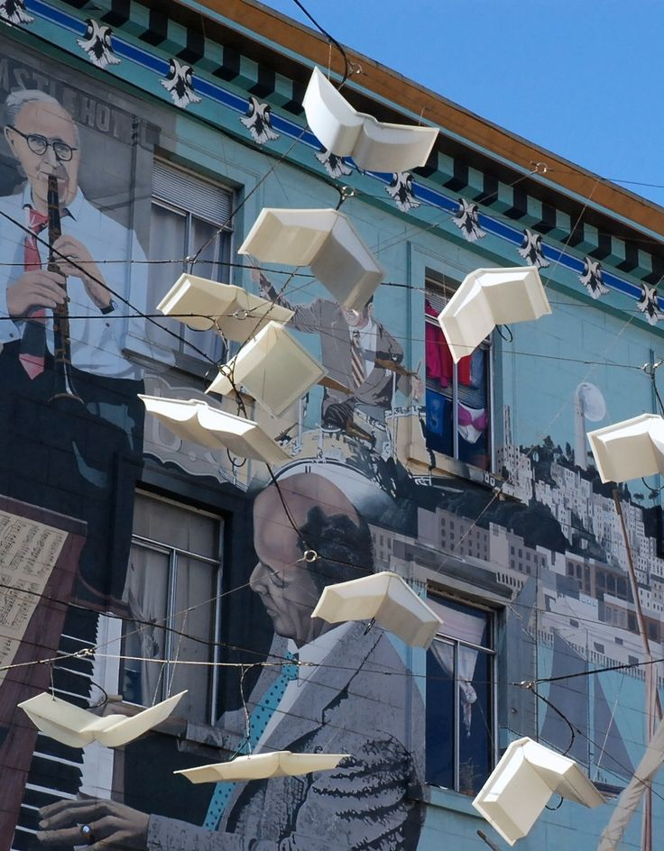 """"""" Language of the Birds """" solar - powered book installation at Columbus and Broadway in San Francisco. Designed by Dorka Keehn and Brian Goggin (2008) Zippertravel.com Digital Edition"""