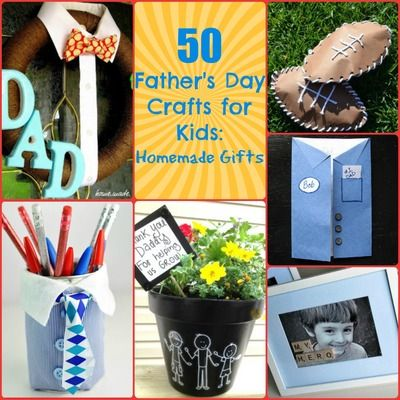 50 Father's Day Crafts for Kids: Homemade Gifts...There is nothing more meaningful than a Father's Day gift full of effort and love. With this wonderful list of Father's Day crafts for kids, you can decorate the house in true Daddy spirit, craft the perfect card that will make Dad smile from ear to ear, and put together a gift that will never be forgotten.