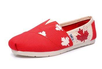 toms canada flag colour canvas shoes