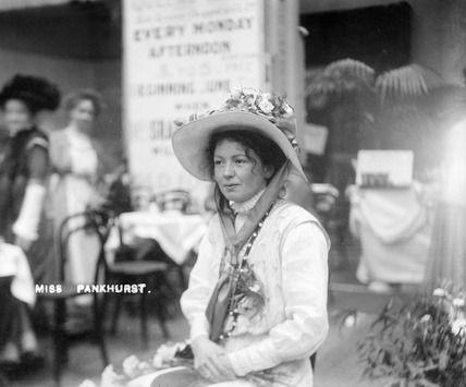 Christabel Pankhurst at The Women's Exhibition: 1909, Christina Broom