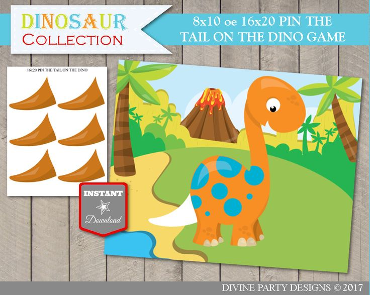 pin the tail on the dinosaur template - 7 best dinosaur birthday party ideas images on pinterest