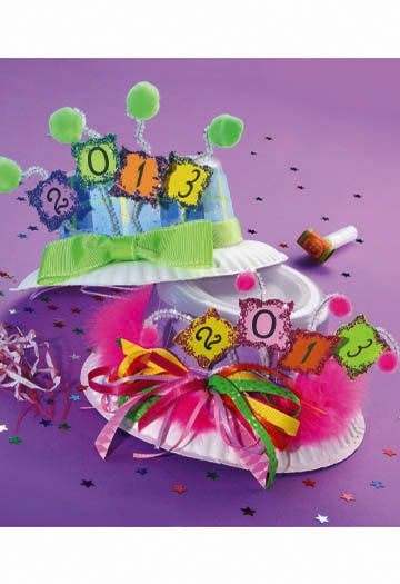 The New Year S Eve Party Hats Are So Fun To Make Kids Can Get