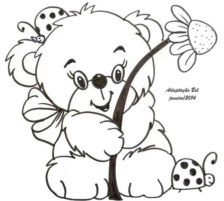 Bear cute girl