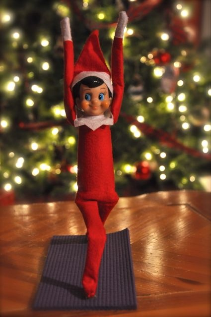 Image result for elf on a shelf yoga