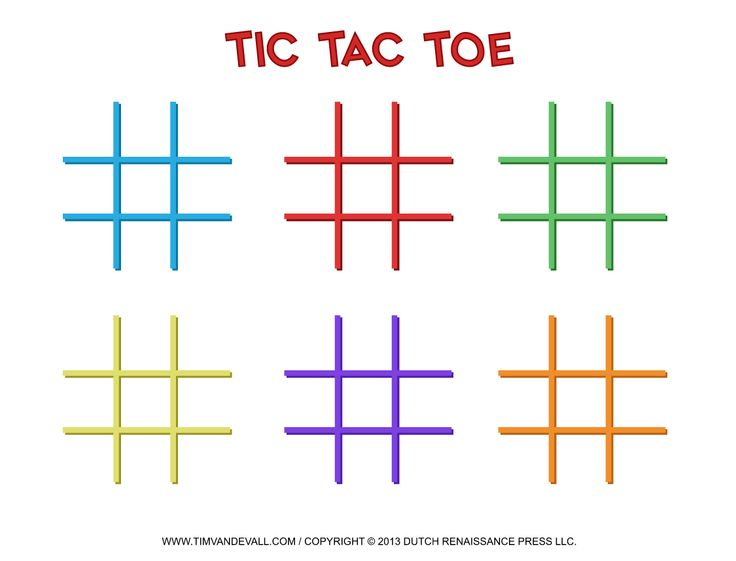 142 Best Tic Tac Toe Game Printables Images On Pinterest | Tic Tac