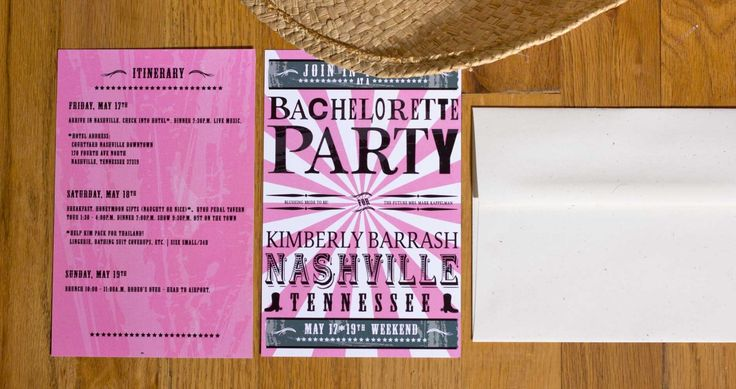 Bachelorette Party Invitation | Nashville, TN | Kim | Chicago Wedding ...