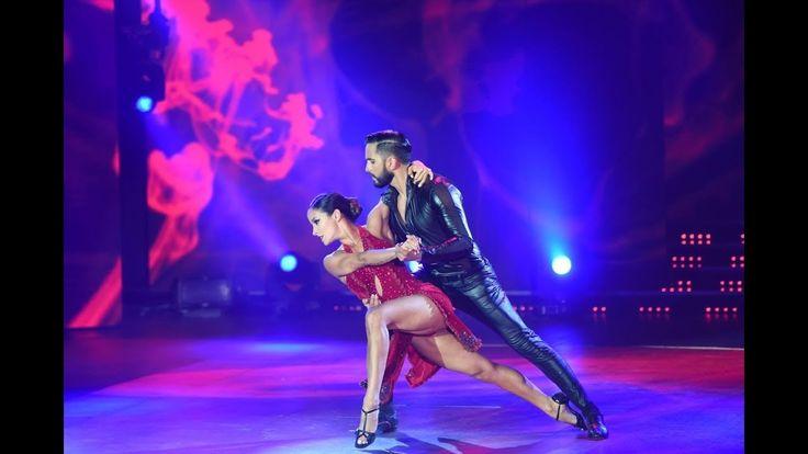 Lourdes Sánchez y Gabo Usandivaras deslumbraron con un tango perfecto