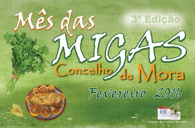 Divulgação: Mês das Migas regressa a Mora - 3ª edição em Fevereiro
