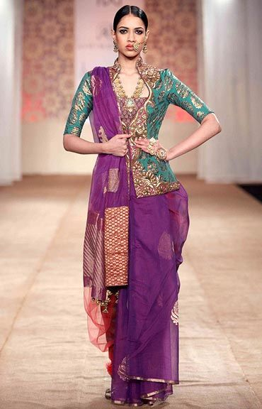 Indian Dress - Radiant Orchid Tones