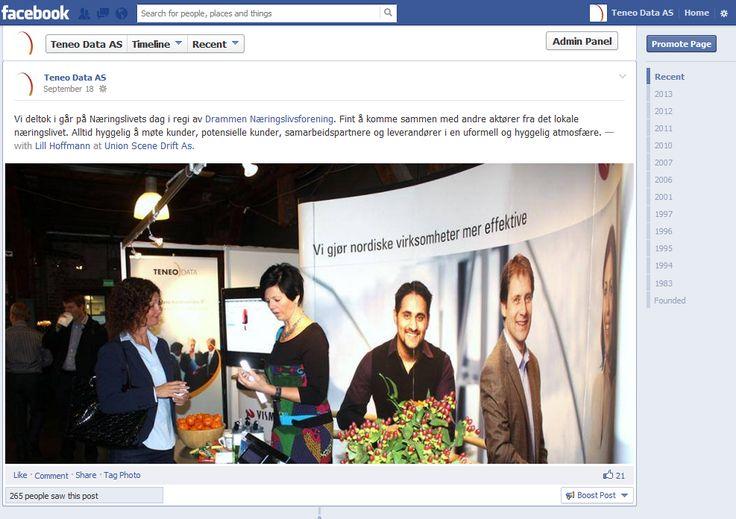 Hva skjer hos oss - Facebook: https://www.facebook.com/TeneoData?ref=hl