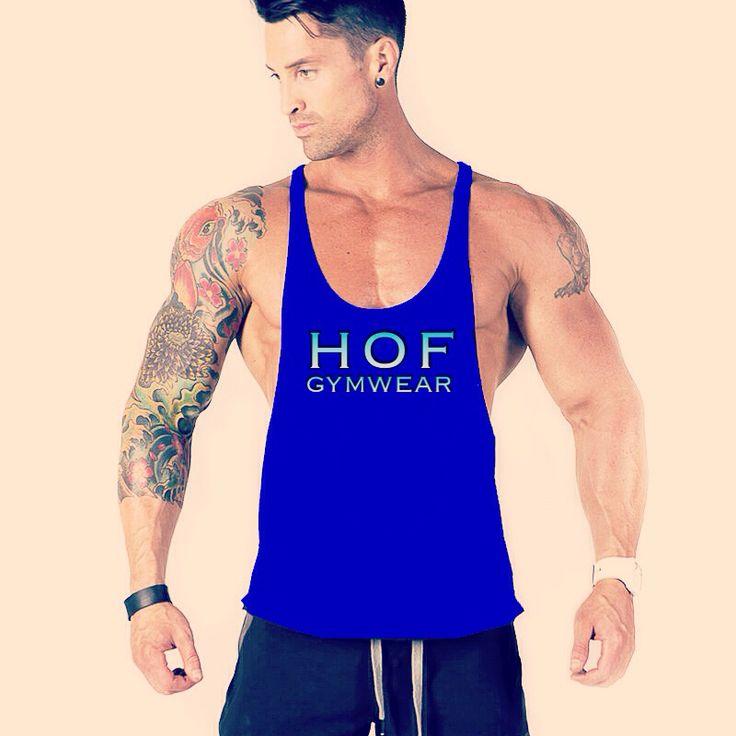 Mens blue stringer gymwear    Visit www.houseoffitness.ie for more.