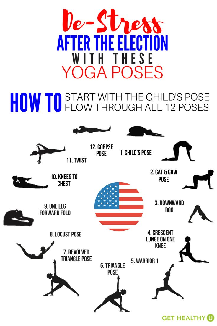 Check out these yoga poses to help you de-stress after the election! This presidential race has us all feeling a little tense, so let us show you some moves to unwind a little!