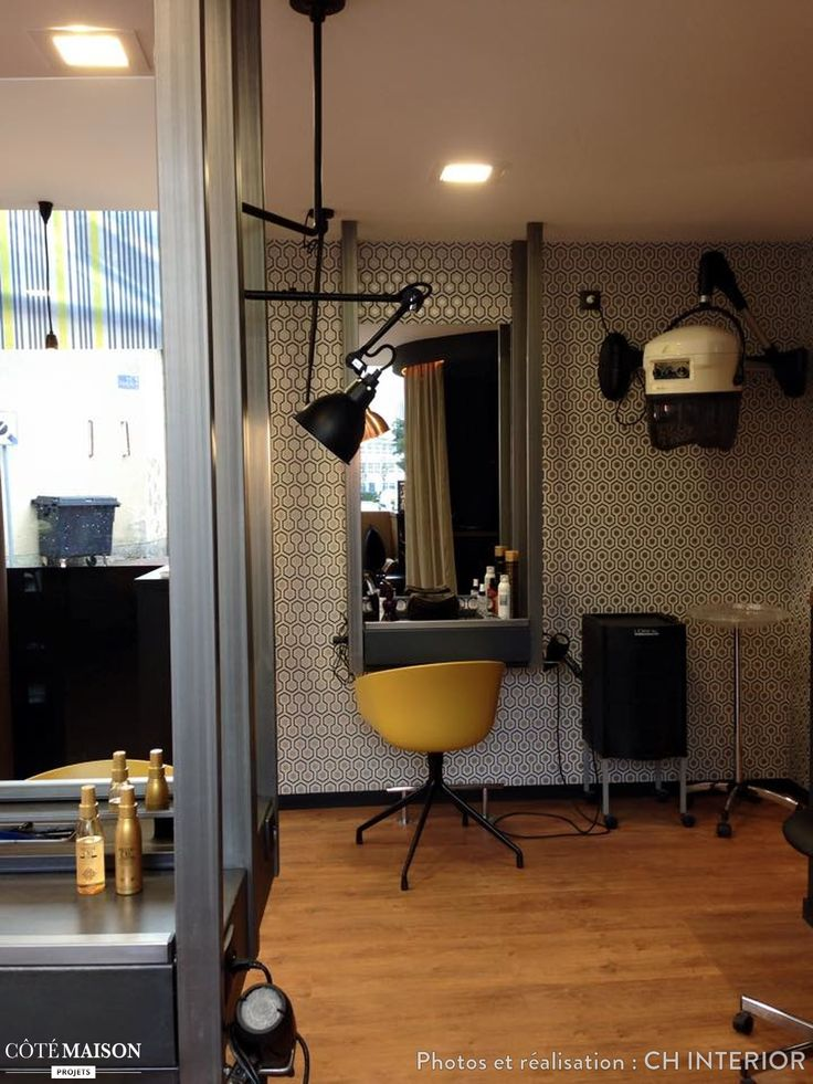 Salon de coiffure - Papier peint Hick's Hexagon via…