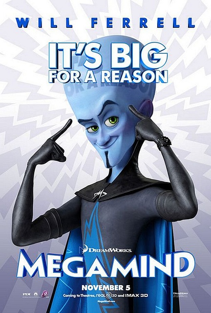 Megamind movie poster by Movie Poster Shop, via Flickr