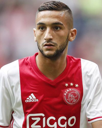 Hakim Ziyech (Ajax) , Voetbal, Voetballers en Voetbal taart