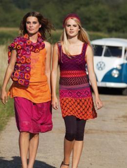 Dress and Hat with Crochet Patterns   KnitSMC.com  http://us.knitsmc.com/files/patterns/Free%20Pattern%20-%20SMC%20-%20Design%206958.pdf