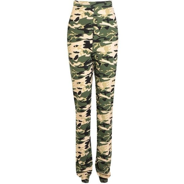 Tall Jolie Camo Print Cargo Trousers ❤ liked on Polyvore featuring pants, camouflage pants, tall trousers, tall cargo pants, camo cargo pants and camoflauge cargo pants