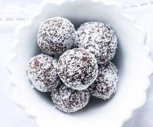 Raw Chocolate Almond Truffles by Lola Berry.