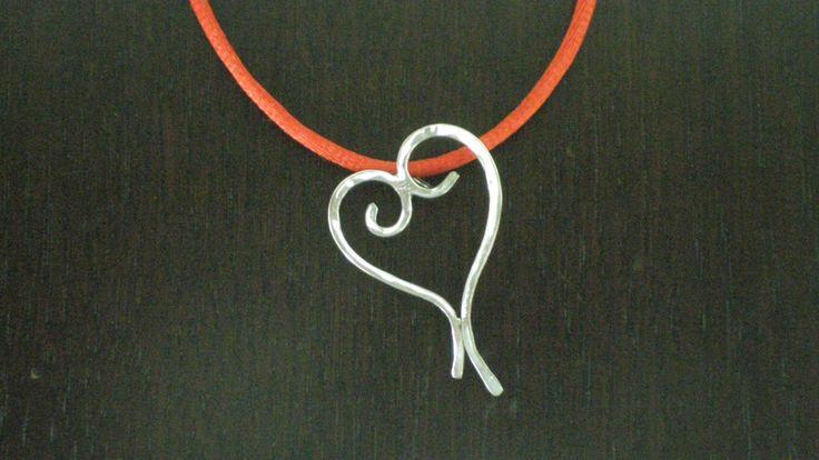 Handmade Silver Heartshaped Pendant by IoJewellery on Etsy
