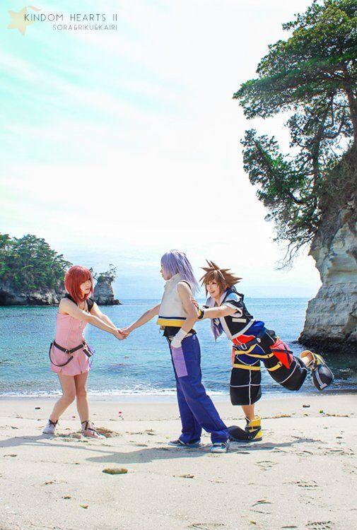 Sora, Riku, & Kairi. Kingdom Hearts cosplay