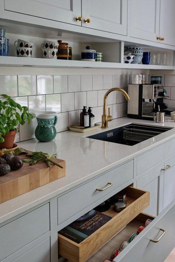 Decoración Cocinas Cocinas Nórdicas Cocinas Grandes Cocinas Escandinavas  Cocinas Con Office Cocinas Con Mesa Comedor Cocina Gris Cocina Americana #  ...
