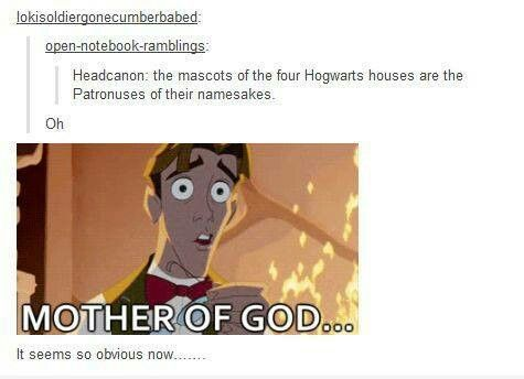 I thought this was already an established fact about the Hogwarts houses? But if not, it should be!