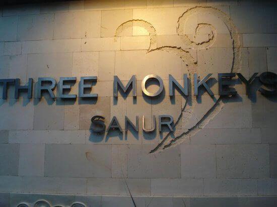 Three Monkeys Sanur   The Bali Bible