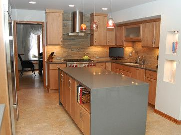 backsplash for kitchen countertops 17 best images about waterfall countertops on 4252