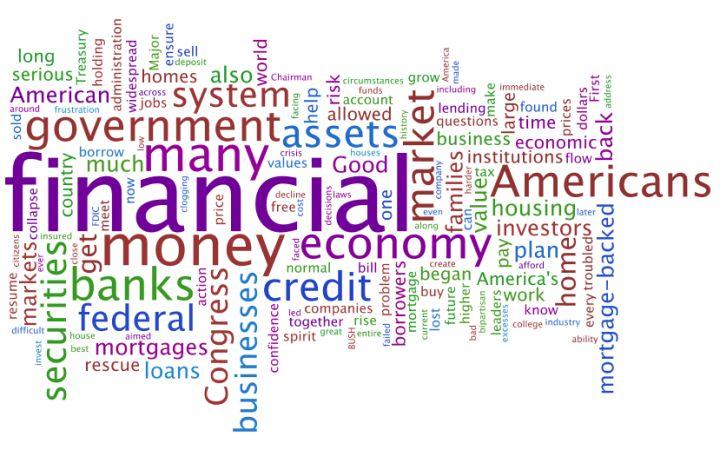 BushOnFinancialCrisisDollar_wordle.png 720×450 pixels