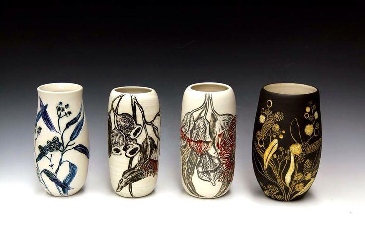 Native Porcelain Botanicals by Danica Wichtermann from Rediscover Ceramics. http://www.rediscovering.com.au  Instagram: rediscoverceramics